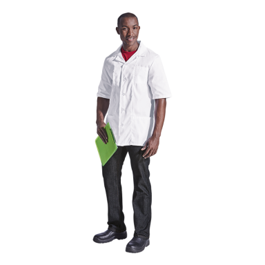 Multifunctional Short Sleeve Lab Coat