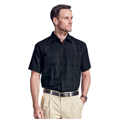 Mens Hamilton Check Lounge Short Sleeve