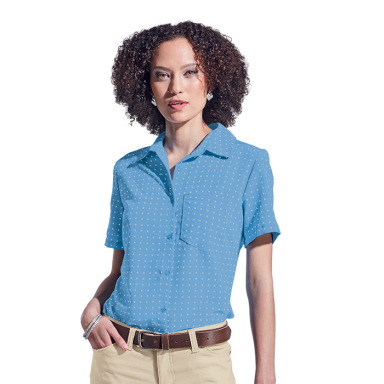 Ladies Donna Blouse Short Sleeve