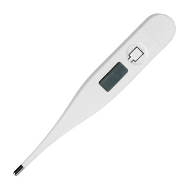 Thermometer in Transparent Box