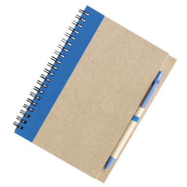 Recycled Spiral Notebook and Pen