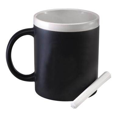 300ml Stoneware Chalk Board Mug
