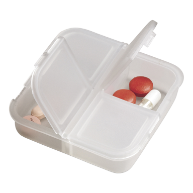 Square 4 Compartment Pill Holder