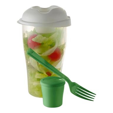 Salad Shaker with Salad Dressing Container and Fork