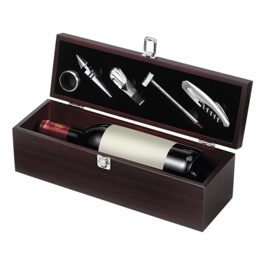 5 Piece Wine Set in Wooden Box