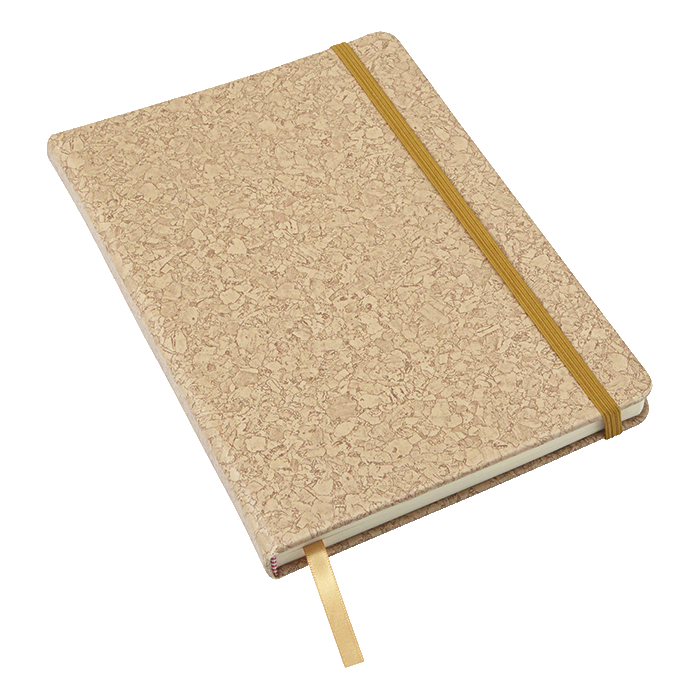A6 PU Notebook with Cork Print