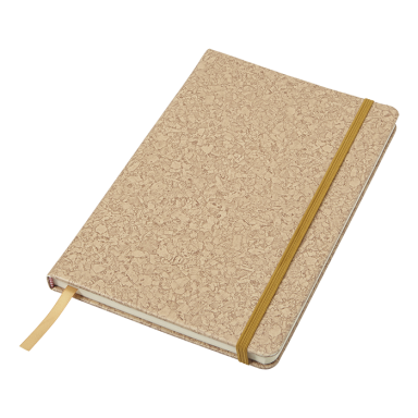 A5 PU Notebook with Cork Print