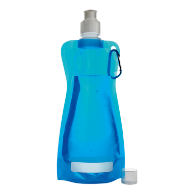 420ml Foldable Water Bottle with Carabiner Clip