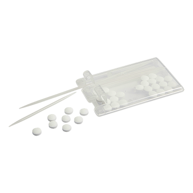 Mints and Toothpicks in Rectangular Case