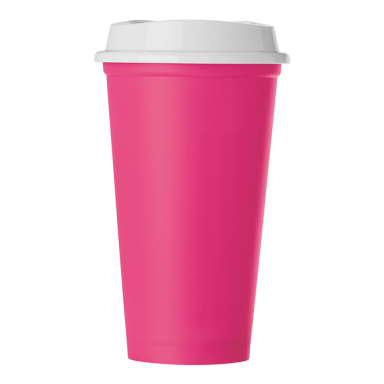 520ml Plastic Mug with Lid