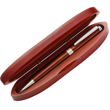 Rosewood Ballpoint Pen in Matching Rosewood Case