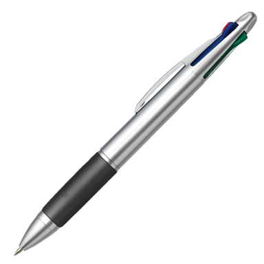 4 Colour Ballpoint Pen with Rubber Grip