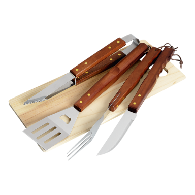 4 Piece Braai and Cutting Board Set