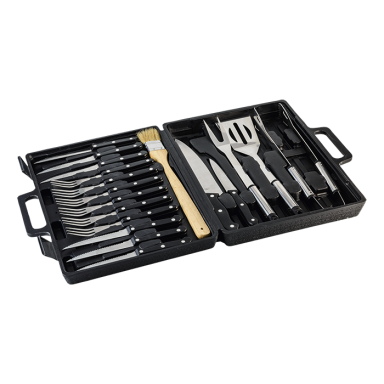 19 Piece Braai and Cutlery Set in Case