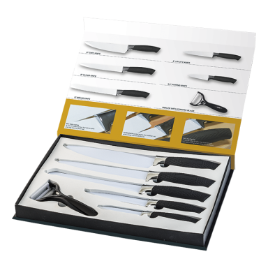 6 Piece Fully Customisable Knife Set