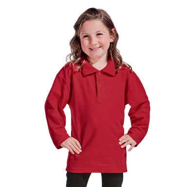 Kiddies 175g Pique Knit Long Sleeve Golfer