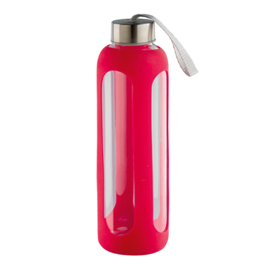 600ml Silicone Grip Water Bottle With Carry Strap