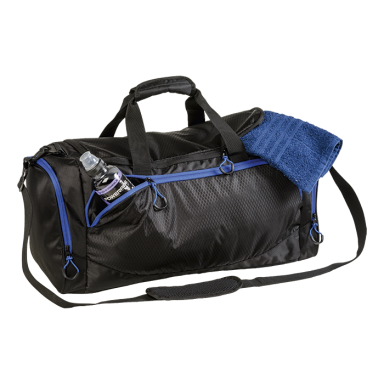 BB0200 - Sports Bag With Curved Contrast Zip