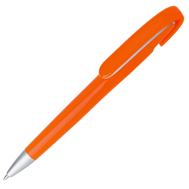 Rounded Clip Ballpoint Pen With Coloured Barrel