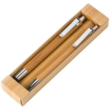 Bamboo Pen and Clutch Pencil Set