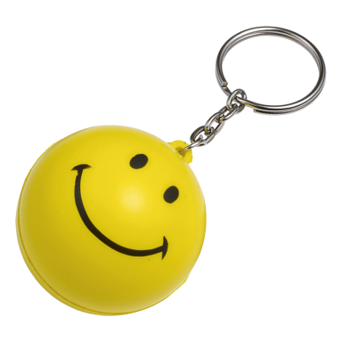 Smiley Stress Ball Keychain