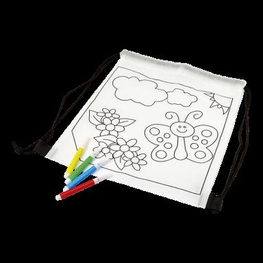 Kids Colouring In Drawstring Bag