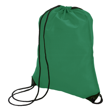 Drawstring Bag With Black Corners