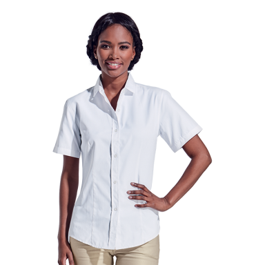 Ladies Clayton Blouse Shirt Short Sleeve