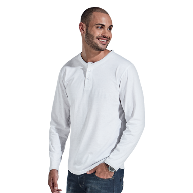 145g Henley Long Sleeve T-Shirt