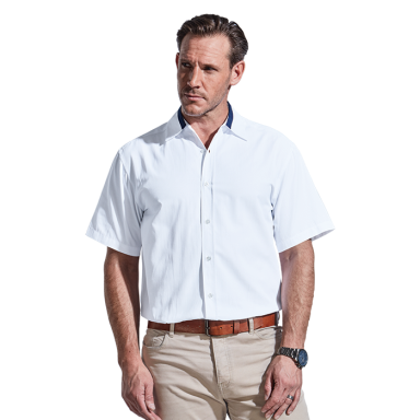 Mens Dallas Lounge Shirt Short Sleeve