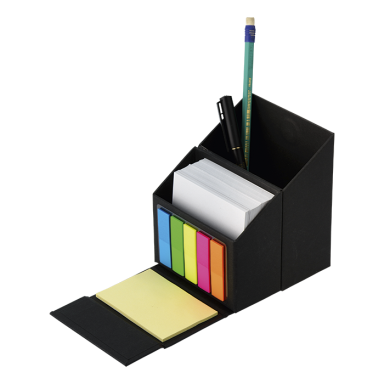 Flip Open Desk Organiser With Sticky Notes