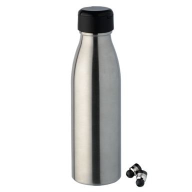 2 in 1 Water Bottle With Bluetooth Earphones