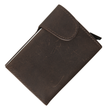 Leather RFID Pop Up Wallet