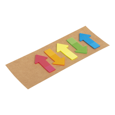 Arrow Shaped Sticky Notes