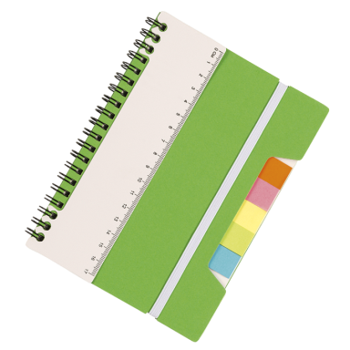 A5 Notebook With Sticky Notes And Ruler