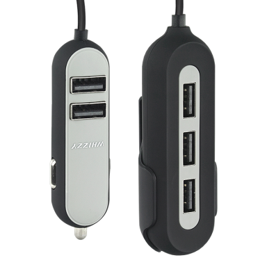 Whizzy 5 Port USB Car Charger
