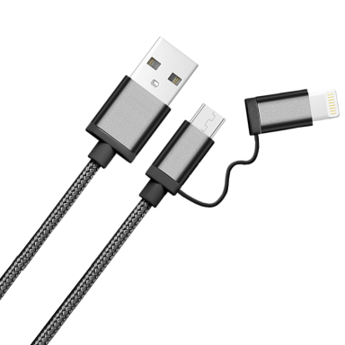 Whizzy 2 in 1 USB Charging Cable