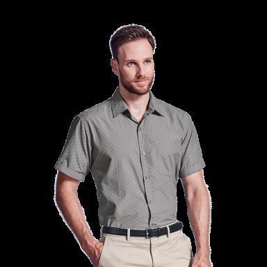 Mens Claremont Lounge Shirt Short Sleeve