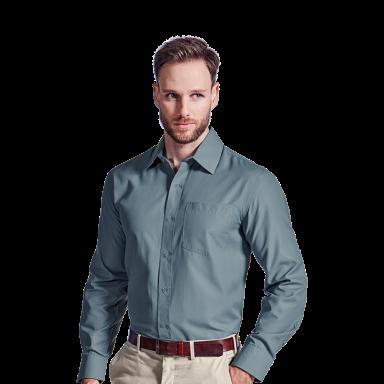 Mens Easy Care Lounge Shirt Long Sleeve