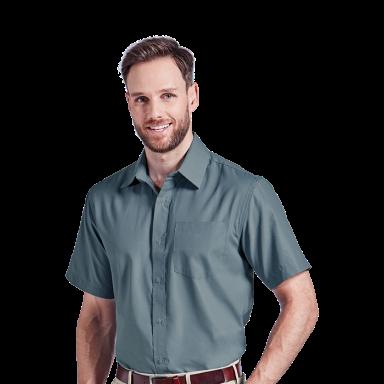 Mens Easy Care Lounge Shirt Short Sleeve