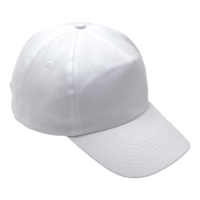 5 Panel Cotton with Hard Front Cap (HW001)